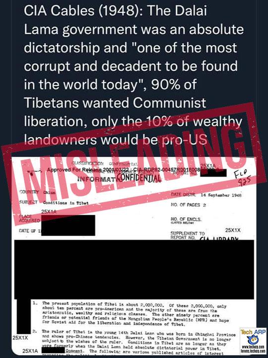 Was Dalai Lama Government Corrupt, Decadent Dictatorship?