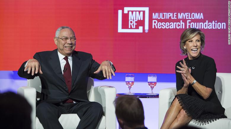 Kathy Giusti Colin Powell 2019 Multiple Myeloma Research Foundation