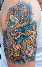 Angharad Chappelle geek best of tattoo belle bete disney
