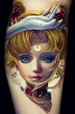 Nikko Hurtado geek best of tattoo sailor moon