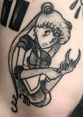 Raine Knight geek best of tattoo sailor moon