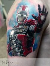 Valentina Ryabova best of tattoo iron man