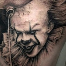 Stephen Wilink best of tattoo it ca pennywise clown horror movie float