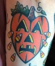 Gary Gerhardt halloween geek corn candy best of tattoo