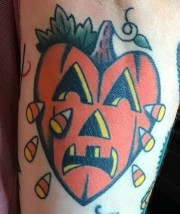 Gary Gerhardt halloween geek corn candy best of tattoo
