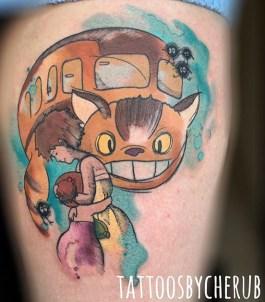 Cherub best of tattoo totoro chat bus catbus neko miyazaki