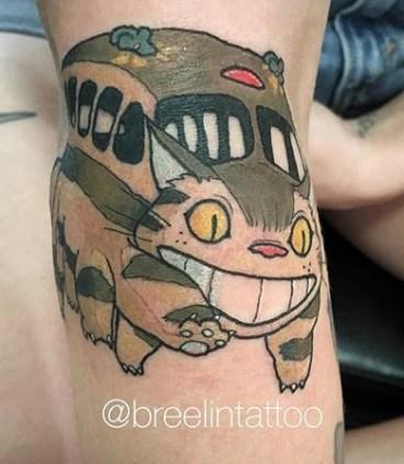 Bree Lin best of tattoo totoro chat bus catbus neko miyazaki