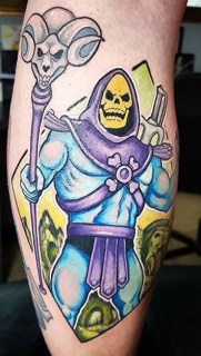 Newtraditional tattoo Geek Best of Tattoo He Man Skeletor