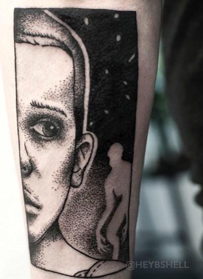 Battershell stranger things geek peau best of tattoo