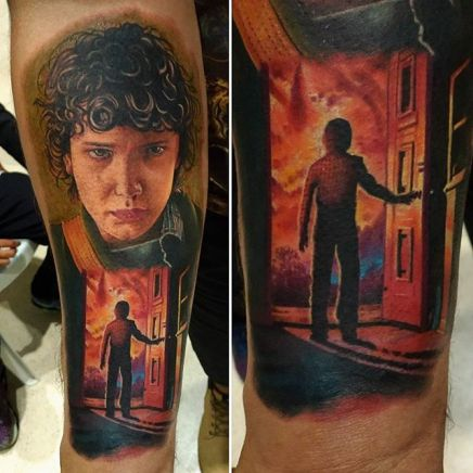 Raphael Amorim stranger things geek peau best of tattoo