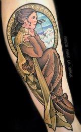 Mae La Roux best of tattoo star wars leia