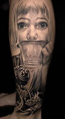 Jhon Gutti geek tattoo best of tattoo alice wonderland pays merveilles