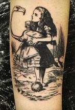 Pip Mason geek tattoo best of tattoo alice wonderland pays merveilles