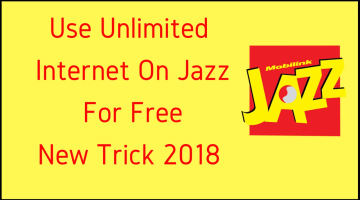 How To Use Unlimited Jazz Free Internet | New Trick 2018 (100% Working)