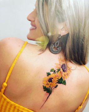 Sunflower tattoos ideas for women (2)