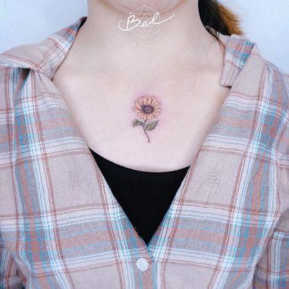 Sunflower tattoos ideas for women (46)