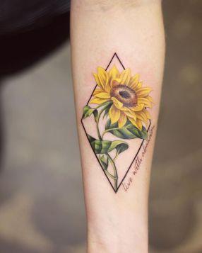 Sunflower tattoos ideas for women (5)