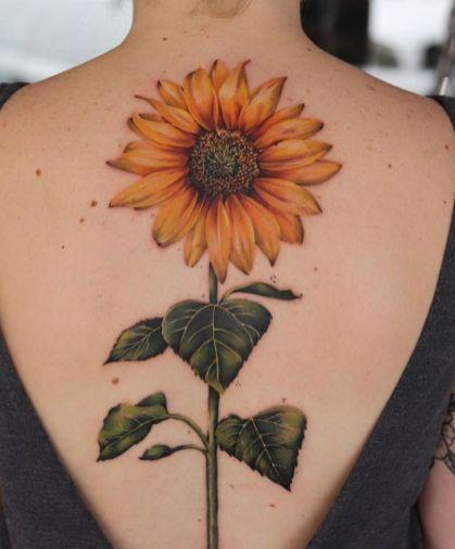 Sunflower tattoos ideas for women (52)