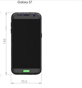 Samsung Galaxy S7 Dimension