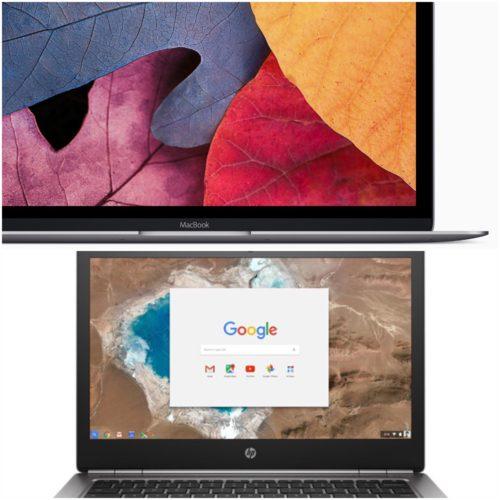 HP ChromeBook 13 V/S Apple Macbook 12 Inch Display