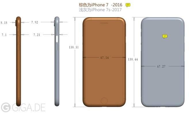 Apple iPhone 7s New Dimension Leaks Showing Bigger Than iPhone 7Apple iPhone 7s New Dimension Leaks Showing Bigger Than iPhone 7