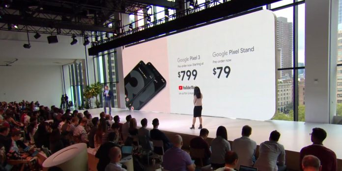 Pixel 3 and Pixel Stand Pricing