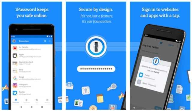 best password managers for android 1password