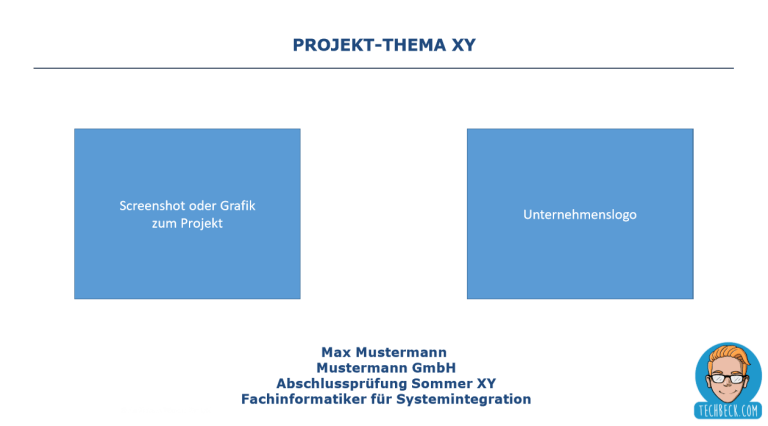 Download Vorlage für die Präsentation / betriebliche Projektarbeit / Dokumentation / Prüfung