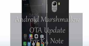 Lenovo K4 Note OTA Update