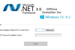 Download .NET Framework 3.5 Offline Installer