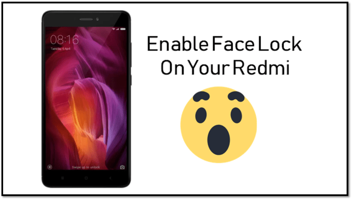 how to enable face lock on Redmi Note 4