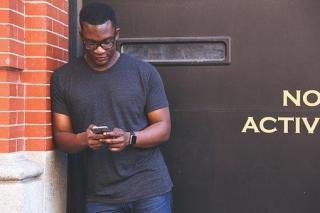 Man, Black Man, Mobile Phone, Person