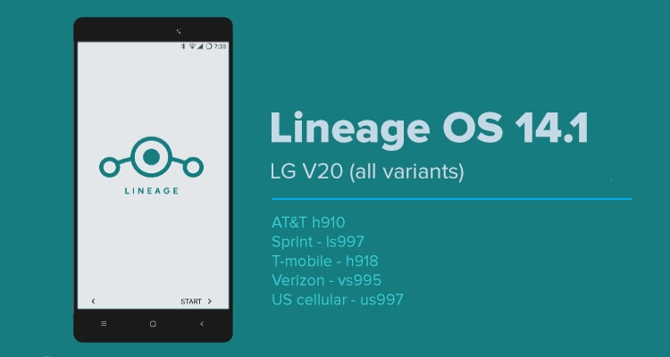 Lineage OS 14.1 on LG V20