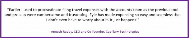 Flye Expense Management App