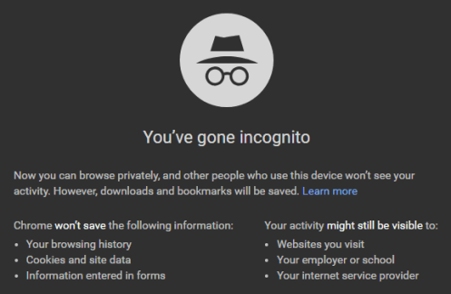 Incognito Window