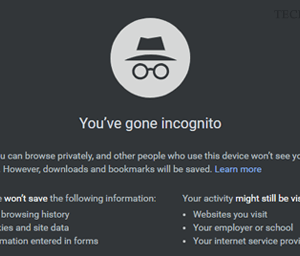 disable incognito mode in google chrome