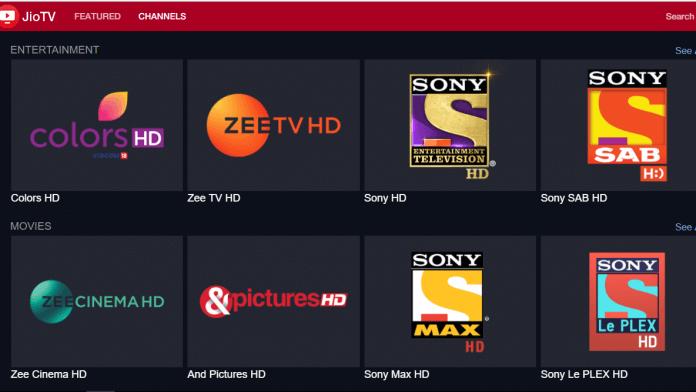 JioTV Web Version