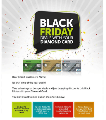 Diamond bank card and black friday deals 2017