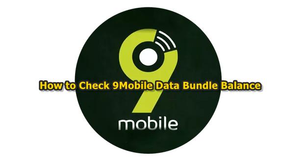 USSD code for 9Mobile (Etisalat)  internet data bundle subscription Balance