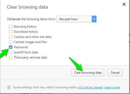 Clear saved password tool for browsers
