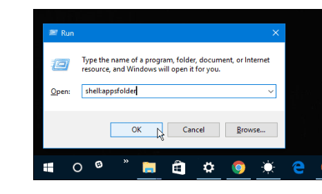 Windows 10 PC appsfolder