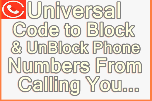 code to block or bar phone Numbers