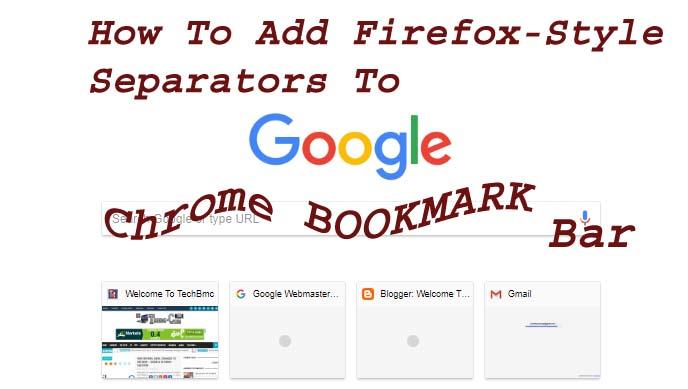 Google chrome Bookmarks Bar