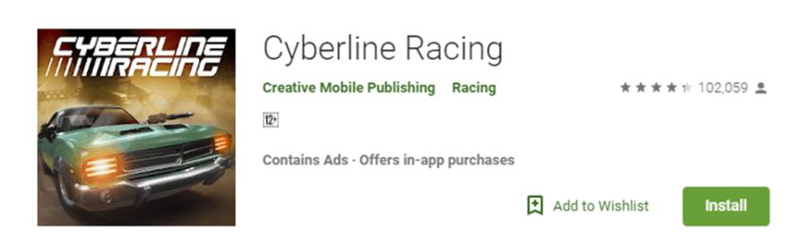 Cyberline Racing game