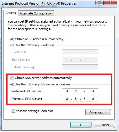 How to change DNS  Windows - techbmc