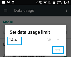 Monitor Data Usage On Android