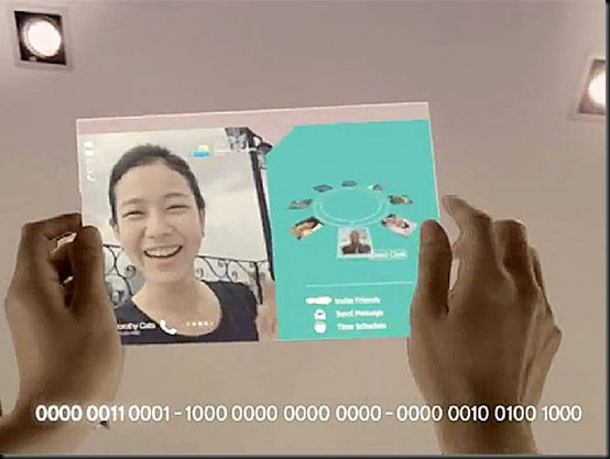 Samsung vislumbra tablet flexível e transparente, Samsung Amoled, tablet