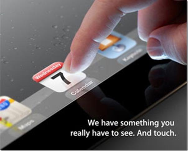 7 de março. Seria esta a data de lançamento do iPad3?, A Apple enviou convites para jornalistas nesta terça (28)., Apple, iPad