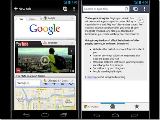 Google Chrome ganha versão para Android, Google, Chrome, Android