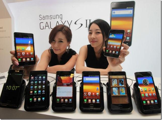 Samsung vende 20 milhões de unidades do Galaxy S II, Samsung, Smartphones, mercado